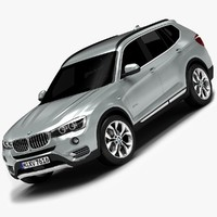 2015 bmw x3 interior 3d 3ds