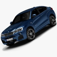 3d model of 2015 bmw x4 interior