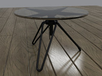 maya glass metal coffee table