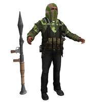al terrorist 3d max