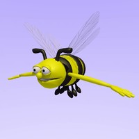 bumble bee rigged 3d 3ds