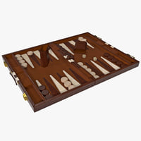 3d backgammon model