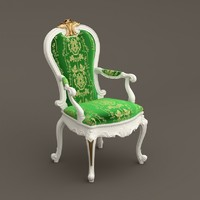 baroque chair 3d max