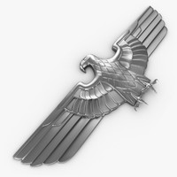 eagle chrome 3d obj