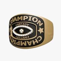 3d champion ring