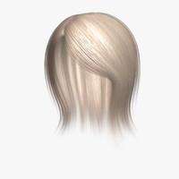 linda hair human character 3d obj