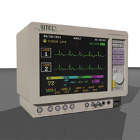 Animated ECG Monitor: Medical Equipment