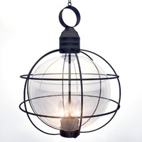 Metal frame lamp