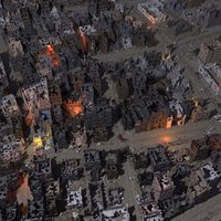 destroyed city street 3d model