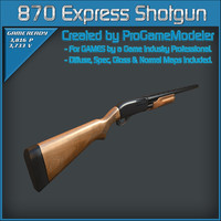 3d remington 870 express shotgun