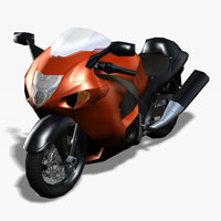 3d hayabusa motorcycle rigged