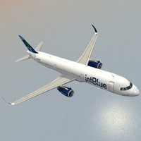 3ds max sharkleted a321neo jetblue a321