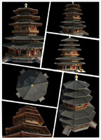 3d chinese classical temple