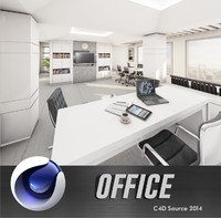 cinema4d office interior
