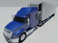 international prostar premium trailer truck 3d 3ds