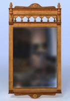 mirror wood wooden obj