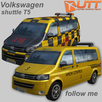volkswagen transporter shuttle follow 3d model