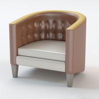 club chair 3d model