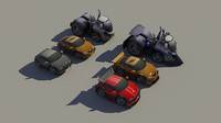 3d model unity package cars