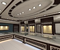 3d model jewellers shop interior