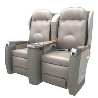 3d model first-class cabin seat