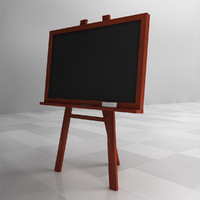 3d model of chalkboard chalk