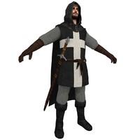 3d model medieval crusader