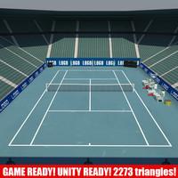 tennis games 1 3d model