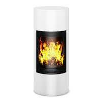 maya modern white fireplace