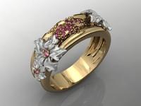 ring flowers 3d model