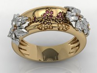 3ds max ring flowers