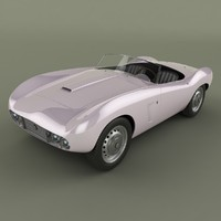 arnolt-bristol 1958 3d model