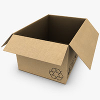 3ds max cardboard box open