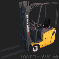 forklift ready 3d model