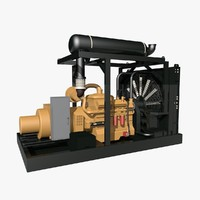 natural gas generator 3d dxf