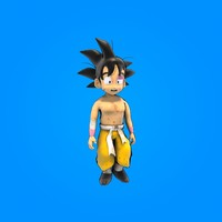 goku rigged cartoon 3d max