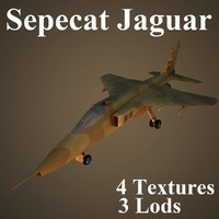 sepecat air low-poly 3d model