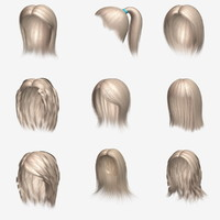 hair character blond 3ds