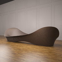 3d folly bench model