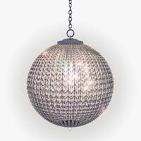 crystal glass lamp lights 3d max