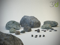 rocks stones photorealistic 3d max