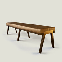 designer lounge bench obj