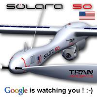 3d model solara 50 aerospace