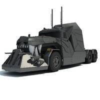 3d concept dragon truck
