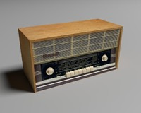 old ussr radio rodina 3d model