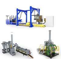 3d factory machine model