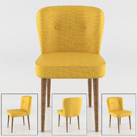 modern yellow chair 3d model