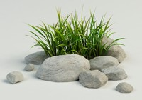 3ds max grass stones