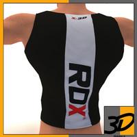 3d bodybuilding vest model