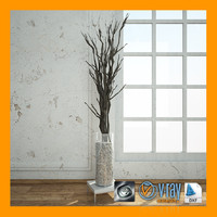3ds max living room decoration vase